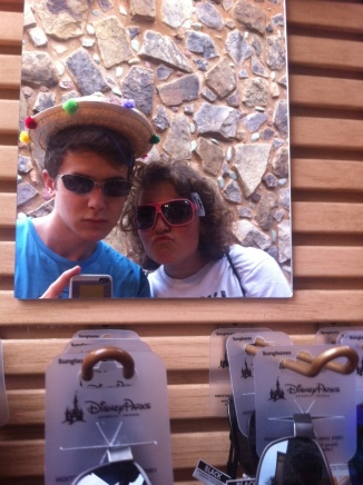 Walt Disney World, EPCOT, Mexico, Selfie, sunglasses, sombrero
